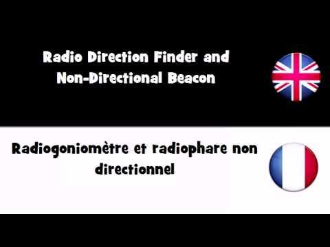 APPRENDRE L'ANGLAIS = Radiogoniomètre et radiophare non directionnel