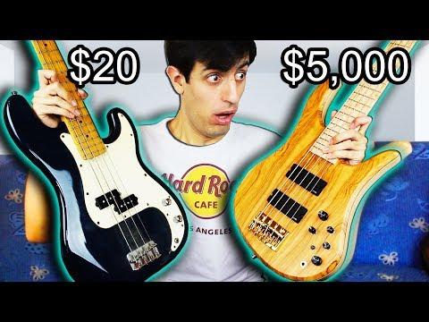 [בס] השוואה בין גיטרות מ- $20 ועד-$5000