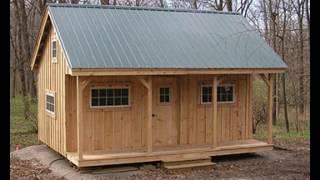 16X20 Vermont Cottage - Option A - Tour DIY Post & Beam Cabin With Large Front Porch & Loft