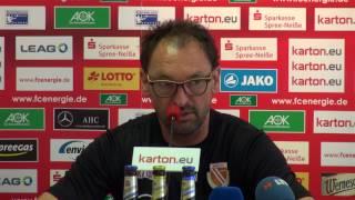 Pressekonferenz FC Energie Cottbus (3. Spieltag)