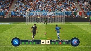 NAPOLI vs PSG | Penalty Shootout | PES 2019 Gameplay PC