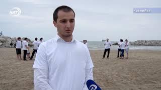 Каспийский пляж теперь чистый