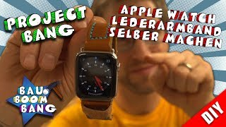 Make Apple iWatch leather bracelet yourself! with folding clasp super cool!