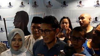 Tanggapan Sandiaga Uno soal Kabar Prabowo Ancam Mengundurkan Diri dari Pilpres