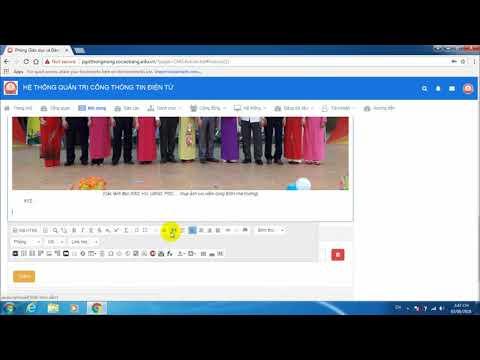 Portal Education #2. Hướng dẫn đăng bài tin tức lên cổng thông tin điện tử