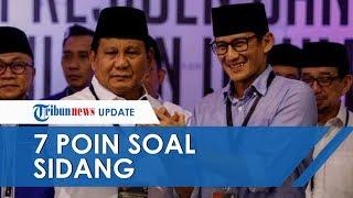 Sandiaga Uno Menyampaikan Tujuh Point soal Sidang Perdana Sengketa Hasil Pilpres 2019