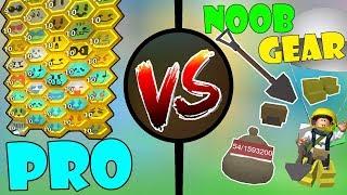 PRO With NOOB GEAR!!! - 🐝Roblox Bee Swarm Simulator
