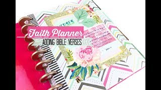 Favorite Bible Verses: Faith Journal Setup In A Happy Planner