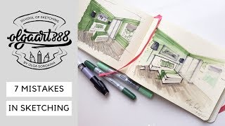 ✍🏼7 MISTAKES IN INTERIOR SKETCHING Beginners Always Do