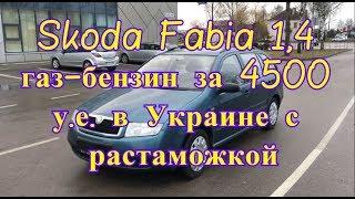 Skoda Fabia 1,4 газбензин за 4500 у е  в Украине с растаможкой