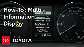 Toyota How-To: RAV4 and RAV4  Hybrid Multi-Information Display (MID) | Toyota