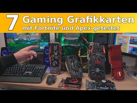Gaming Grafikkarten getestet mit Fortnite und Apex – Nvidia ATI Radeon Geforce unter Windows 10