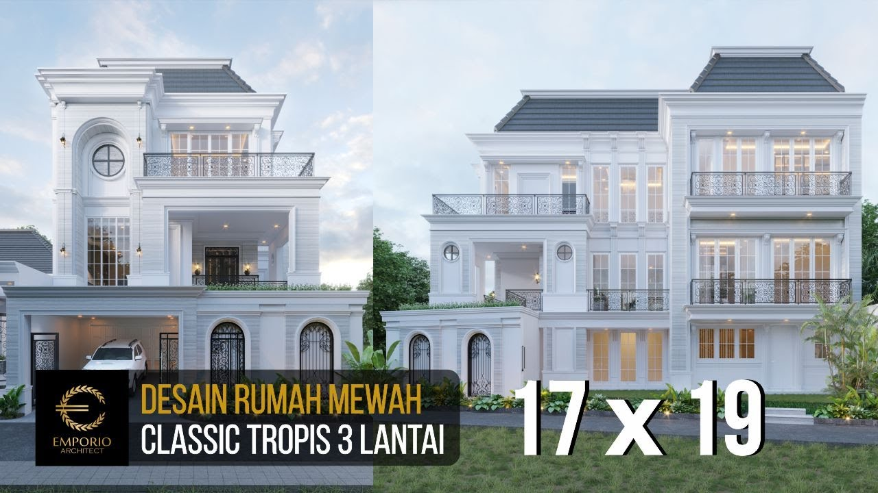 Video 3D Mrs. Christine Classic House 3 Floors Design - Bandung, Jawa Barat