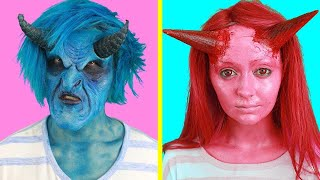 PRO vs. DIY! SCARY SFX HALLOWEEN MAKEUP! WHO DID IT BETTER?!?!?