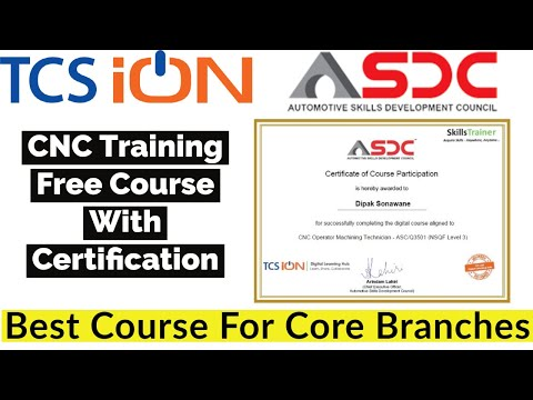 Free CNC Programming Certification Course | TCS ion ... - YouTube