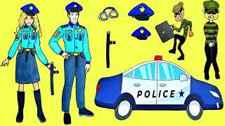 Paper Dolls Dress Up Costumes Carnival Police Simple Papercrafts Dresses Handmade Quiet Book