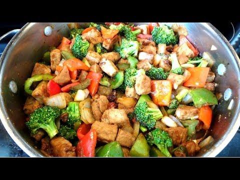 Cerdo con Verduras en Salsa de Soja/ Deliciosa Comida China  #comidachina #cerdoconverduras