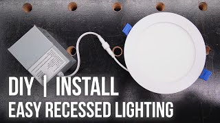 How to Install Recessed Lights   Easy DIY LED Install