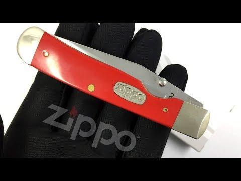 50595 Нож перочинный Zippo Red Synthetic TrapperLock, 105 мм, красный