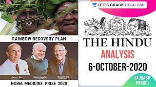 06-October-2020 | The Hindu Newspaper Analysis | Current Affairs for UPSC CSE/IAS | Saurabh Pandey