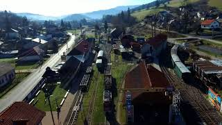 Čiernohronská železnica V Čiernom Balogu Zo Vzduchu