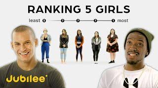 Ranking Women By Attractiveness | 5 Guys vs 5 Girls