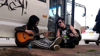 Mike and Aiden from Chomp Chomp Attack! Warming Up (40 Days... by Blessthefall)