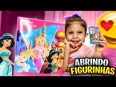 NOVO lbum das Princesas Disney Com Muitas Figurinhas - ABRINDO FIGURINHAS | Duda Carli