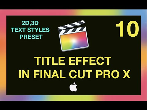 Tamil Tutorials -  2D,3D Text Styles Preset in FCP X (Gold Glittering video clip free download )