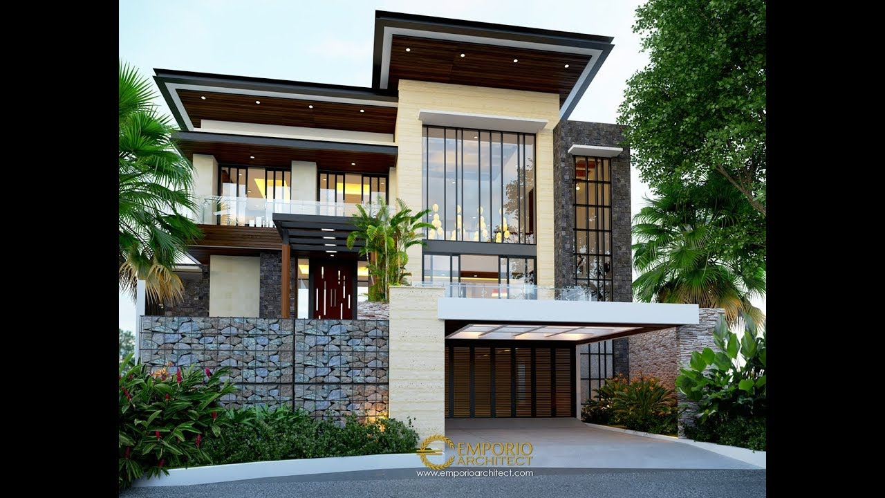 Video 3D Desain Rumah Modern 2 Lantai Bapak Ale - Tangerang, Banten