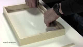 Fitting wood frame with wood spacer and strainer