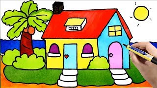 Kids Painting House | Draw and Color My Room, Tree, Window