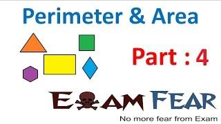 Maths Perimeter and Area part 4 (Questions) CBSE Class 7  Mathematics VII