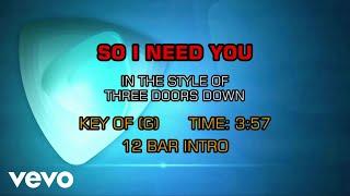 3 Doors Down - So I Need You (Karaoke)