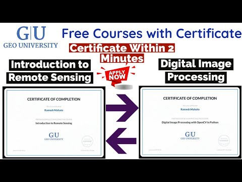 Geo University Free Courses With Certificate   Remote Sensing ...