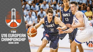 Watch the Semi-Finals game between Italy and France from the FIBA U16 European Championship 2019   #FIBAU16Europe  ►► Subscribe: http://fiba.com/subYT   Click here for more: http://www.fiba.basketball/  Facebook: http://facebook.com/FIBA  Twitter: http://twitter.com/FIBA  Instagram: http://instagr.am/FIBA  Sina Weibo: http://weibo.com/FIBAofficial