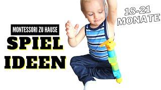 BESCHÄFTIGUNG für KLEINKIND 18-21 Monate || Spielideen und Material auf unserem MONTESSORI REGAL