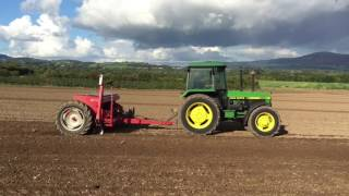 Winter Barley Sowing With John Deere 2850 & Massey 500 Drill