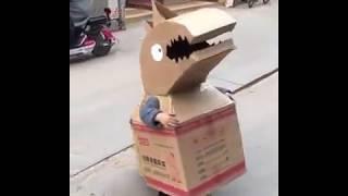 Cute Cardboard Costume In China