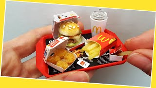 Mini But REAL McDonalds Meal With Nuggets, Fries And Ketchup / When You Are On A Diet :) ASMR