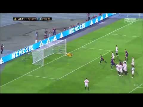 Le but de Pique vs Séville FC