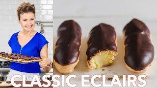 How To Make Classic Eclairs Recipe + Chocolate Ganache