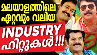 Malayalam Cinema Biggest Industrial Hits – Top Box Office Hits Cinemas in Malayalam