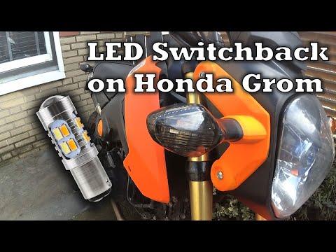 Honda MSX 125 Switchback Orange/White Blinker Lights | GROM Mods