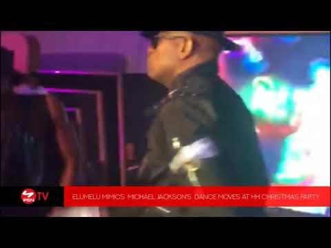 VIDEO: Elumelu mimics Michael Jackson's dance moves at HH Christmas Party
