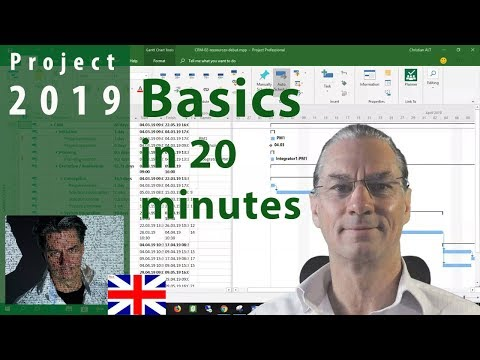 # 1 MS Project 2019 ● Basics in 20 Minutes ● Easy