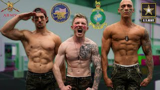 Gymnasts try 'Military Fitness Test' {Record Scores}