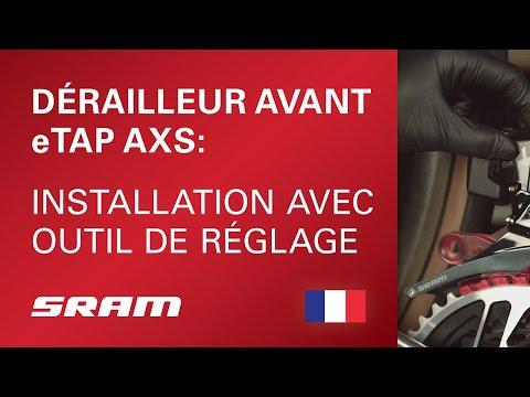 Installation du dérailleur avant eTAP AXS avec outil de réglage