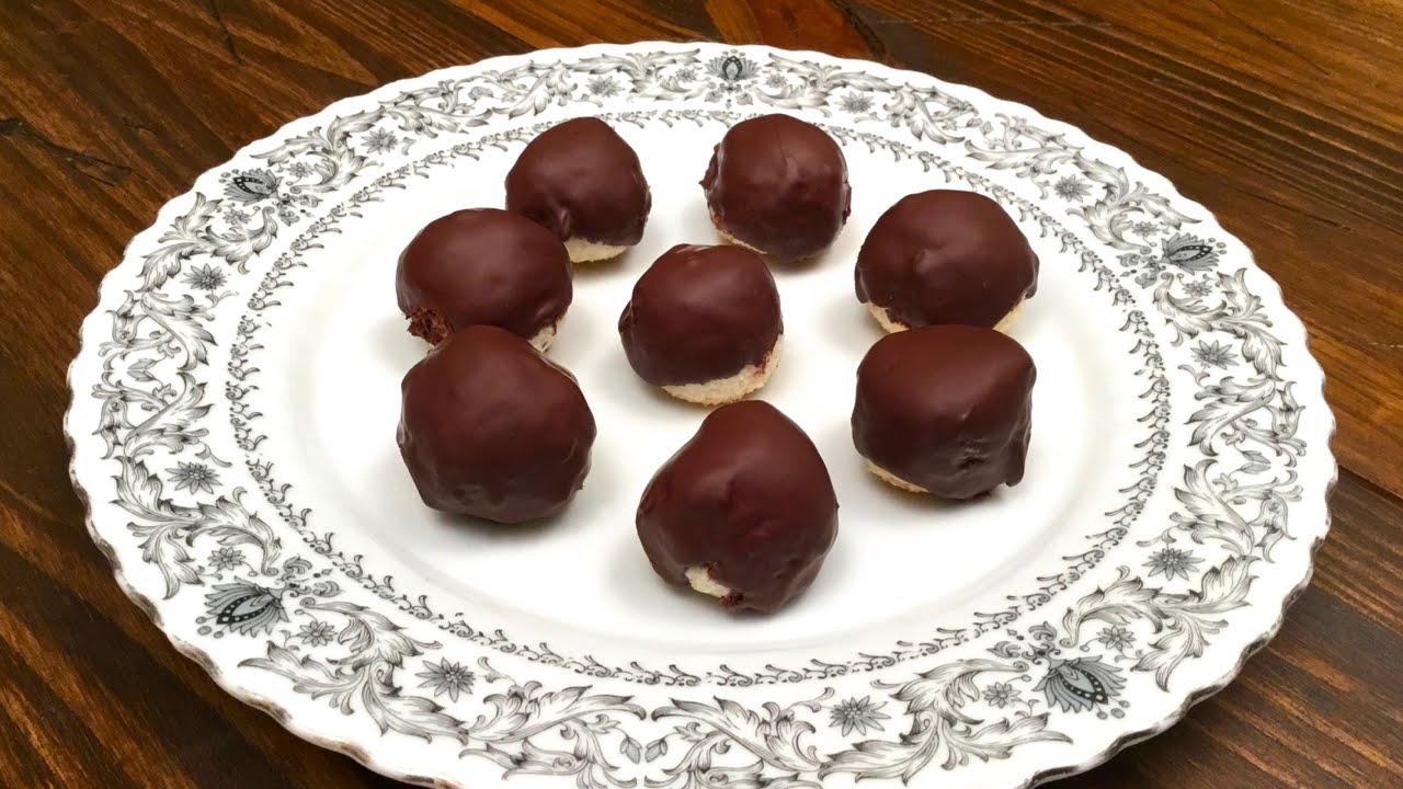 Gocce di cioccolato con ripieno di cocco ♥ VIDEORICETTA