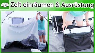 Zelt einräumen & zusätzliche Ausrüstung fürs Camping |  Inneneinrichtung | Aufbau | zelten mit Kind